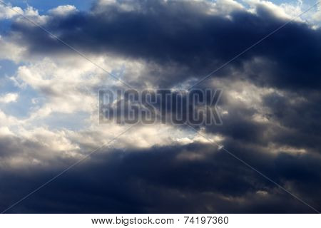 Sunny Sky With Dark Clouds