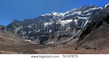 Beautiful Mountain Landscape In The Andes