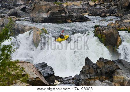 Kayaking in Great Falls National Park, Virginia