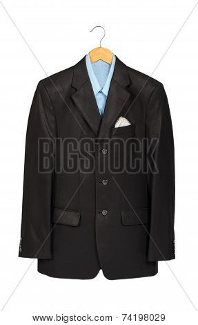 Suit On A Wooden Hanger