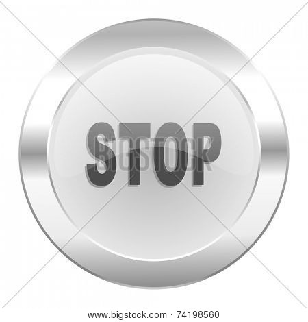 stop chrome web icon isolated