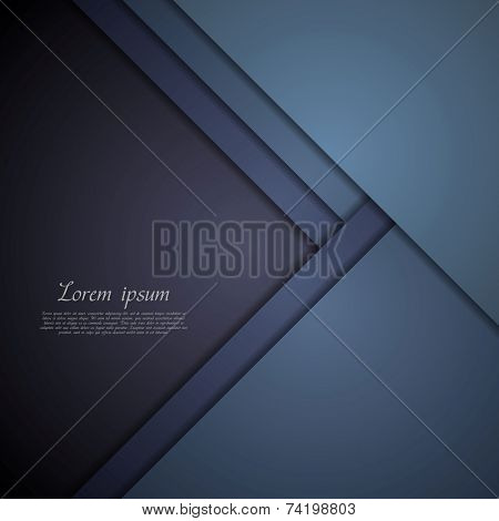 Dark blue corporate tech art. Vector background