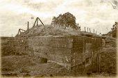 foto of world war one  - Bunker pillbox great world war 1 flanders belgium - JPG