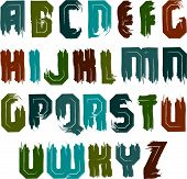 image of verbs  - Vector alphabet letters set - JPG