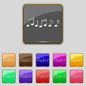 image of musical symbol  - Music note sign icon - JPG
