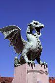 stock photo of dragon  - Bronze Dragon statue - JPG