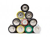 pic of cylinder pyramid  - Stack of battery - JPG