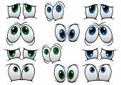 ������, ������: Blue and green cartoon eyes