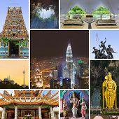 picture of klcc  - Collage of Kuala Lumpur  - JPG