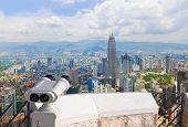 foto of klcc  - Binoculars and Kuala Lumpur  - JPG