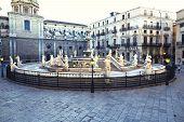 stock photo of shame  - Palermo Piazza Pretoria also known as the Square of Shame Piazza della vergogna - JPG