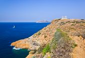 picture of poseidon  - Poseidon Temple at Cape Sounion near Athens - JPG
