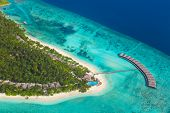 pic of chalet  - Tropical island at Maldives  - JPG