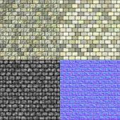 stock photo of diffusion  - Glass tiles seamless generated texture  - JPG