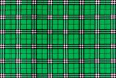 stock photo of tartan plaid  - texture of green tartan plaid textile fabric for pattern background - JPG