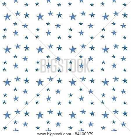 Watercolor stars pattern