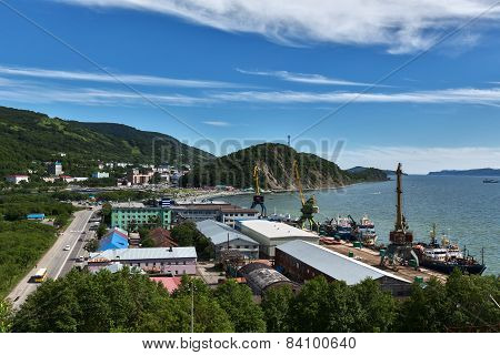 View Of Port Petropavlovsk-kamchatsky. Kamchatka Peninsula, Russia