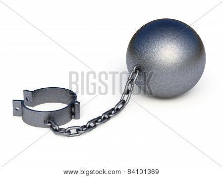 Metal Shackles Isolated