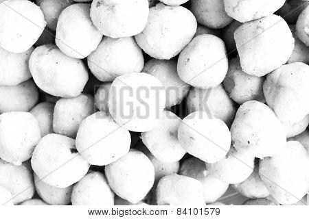 Stuffed Dough Pyramid Filling Texture Soft Tone White Color