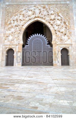 Historical In  Antique Building Door Marble