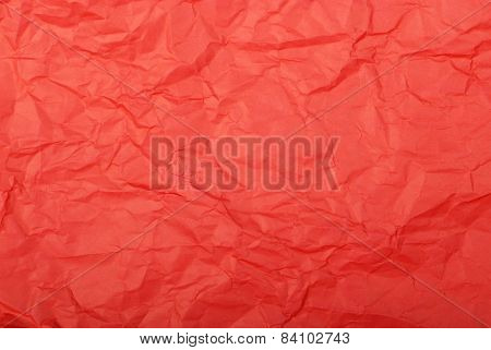 color crumpled paper. Red color