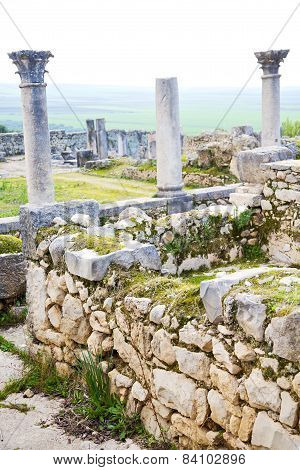 Volubilis In Morocco Africa The Old   Monument And Site