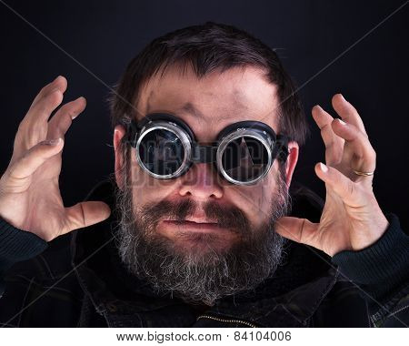 Crazy Man With Broken Goggles