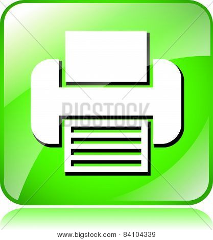 Green Printer Icon