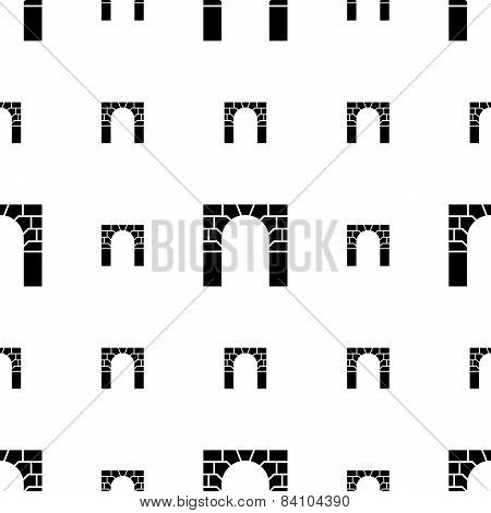 Vector background for brick arch