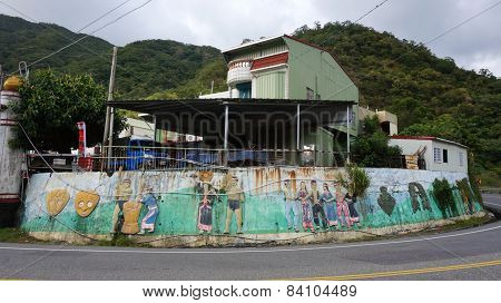 A House With Tribe Decoration Located In Hualien, Taiwan