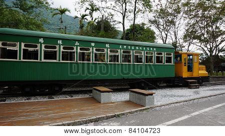 A Old Train Located In Lin Tian Shan Forestry Center, Hualien, Taiwan
