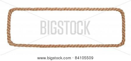 Rope Border Isolated On White Background