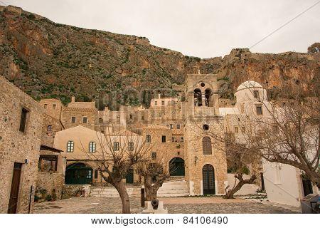Steeple Of A Church, Monemvasia,greece