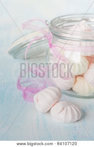 Meringue In A Glass Bowl
