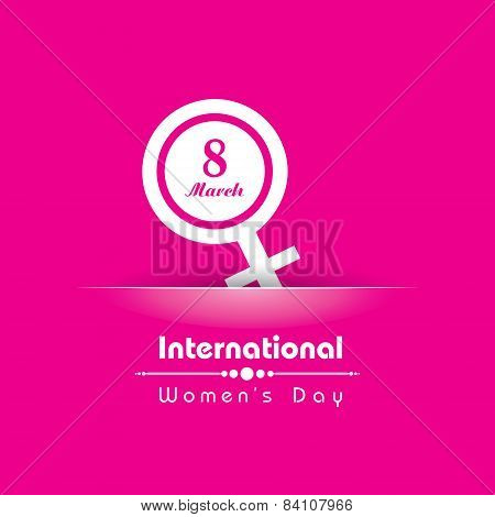 Creative International Woman Day Greeting stock vector