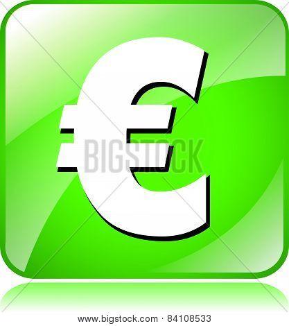 Green Euro Icon