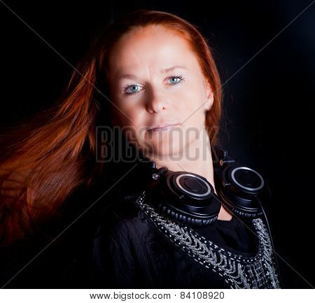 Clubbing Woman With Flying Hair