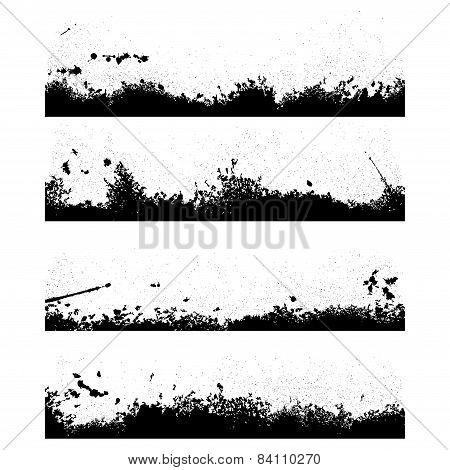 Four black frames blot