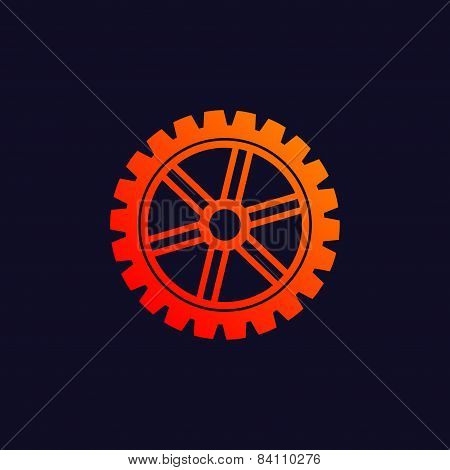 Gear background icon