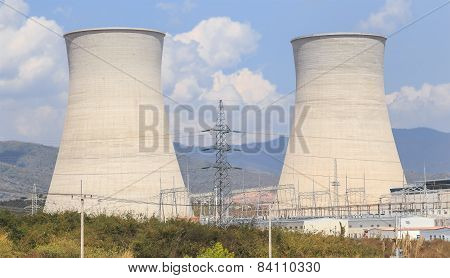 Cooling Tower Of Nuclear Plant In Asia
