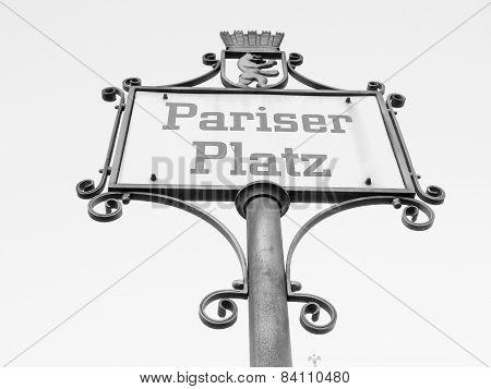 Pariser Platz Sign