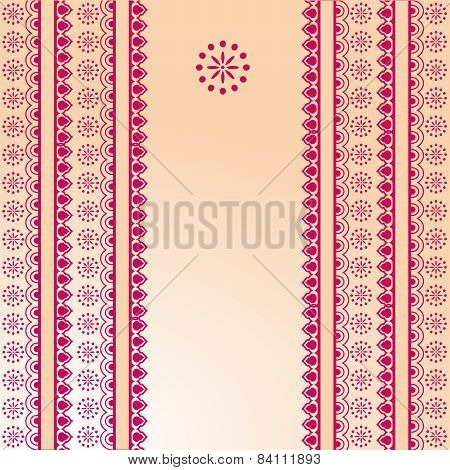 Pink and cream Indian henna banner