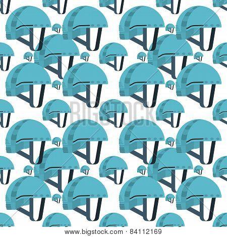 Vector seamless background for blue helmet