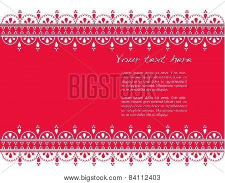 Pink Asian henna banner