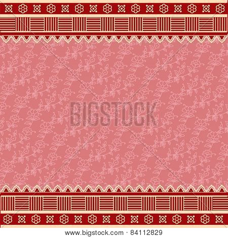 Pink Oriental Indian Saree Background.eps