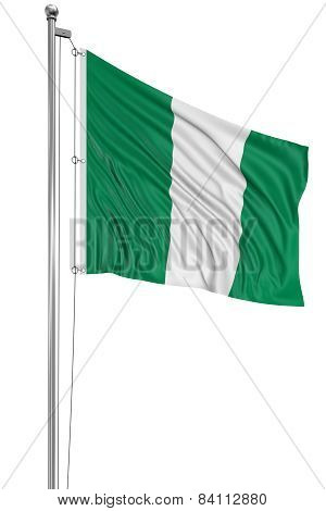 3D Nigerian flag