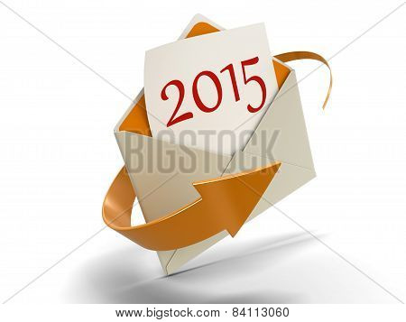 Letter with 2015 (clipping path included)