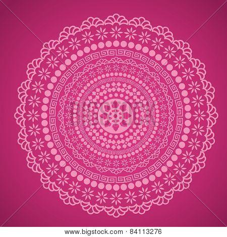 Pink mandala design