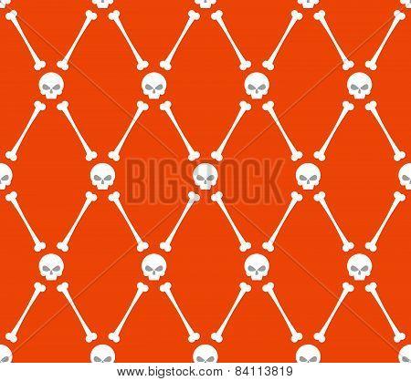 halloween  seamless  pattern. Skull and bone background
