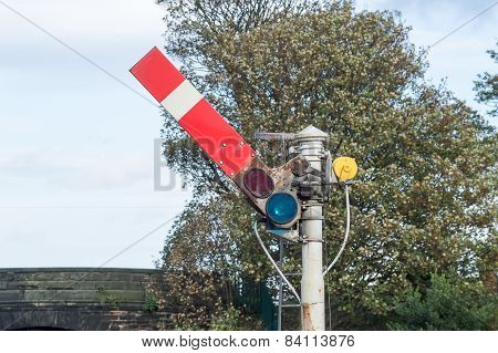 Semaphore Railway Signal in Go/Proceed Position